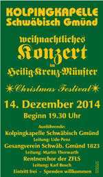 Adventskonzert Plakat 2014